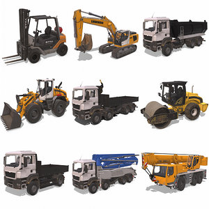 3D construction equipment