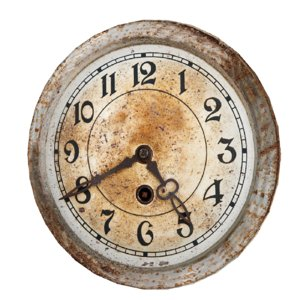 rusty wall clock model