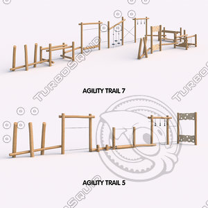 agility trail 3D model