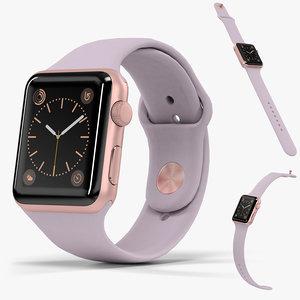 3D apple watch rose gold