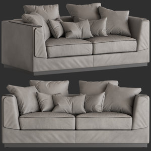 flou gentelman 2-seater sofa model