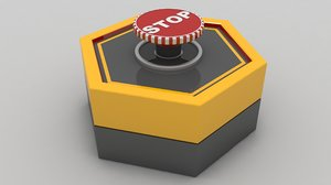 emergency panic button 3D model