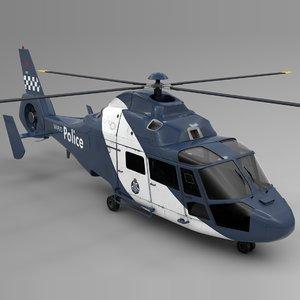 3D australia police airbus dauphin model