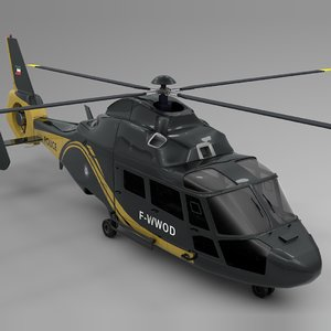 3D model kwait police airbus dauphin