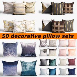 3D 50 decorative set pillow model