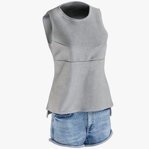 3D realistic women s jean