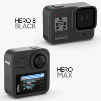 GoPro Hero 8 Black and Hero Max