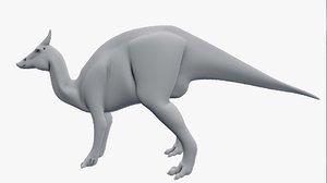 saurolophus 3D model