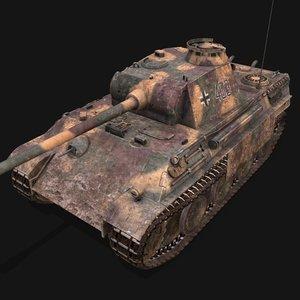 german heavy tank panther 3D model