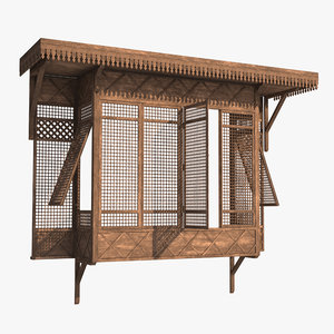 arabian window mashrabia 3D model