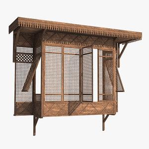 arabian window mashrabia 3D model