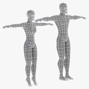 base mesh female male model