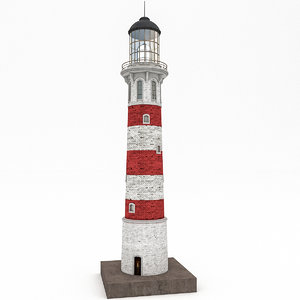 lighthouse realistic 3D model