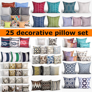 3D model 25 decorative set pillow