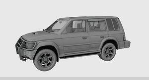 3D pajero car
