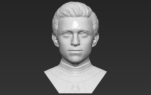 tom holland spider-mann bust 3D model