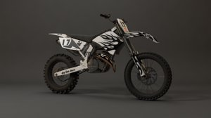 ktm dirt bike 3D model