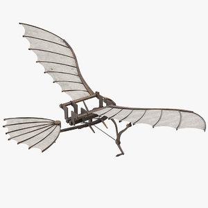 3D model leonardo da vinci glider