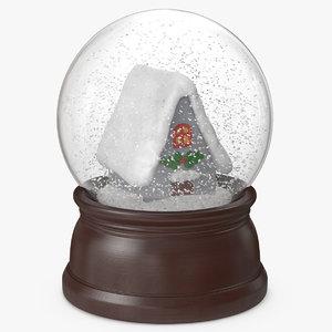 3D snow globe house 2