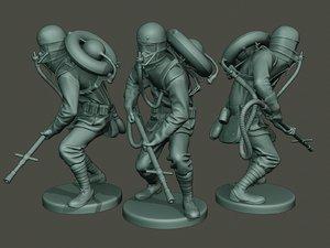 german soldier ww1 action2 3D