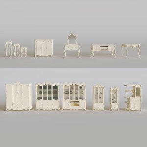 3D european-style furniture set