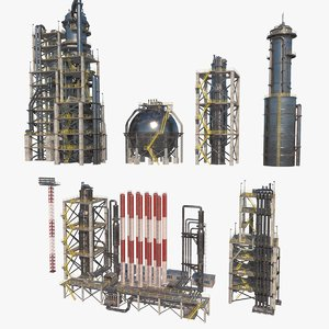 3D model nuclear refinery modules