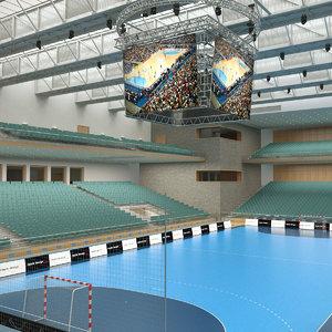 handball arena model