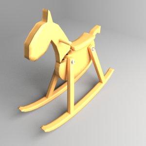 rocking horse 1 3D model
