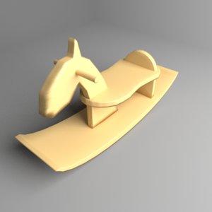 3D model rocking horse 3