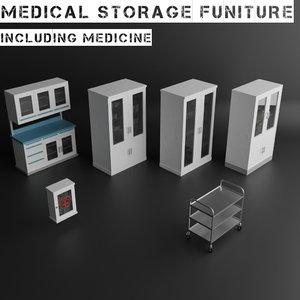 3D medical storage medicine model