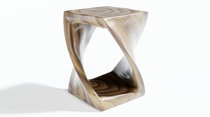 twisted stool 3D