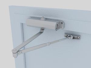3D model door closer