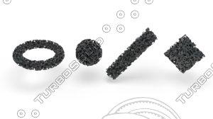 3D model porous structure