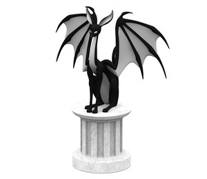 3D black sphinx model