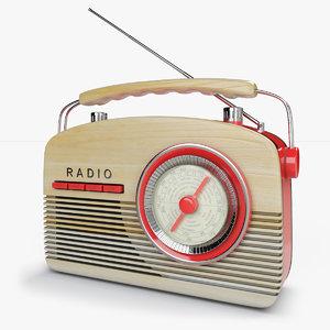 vintage fifties radio 3D model