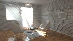 interior setup light 3D model