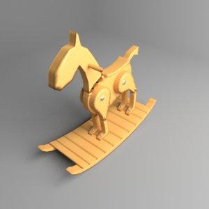 3D model rocking horse 5