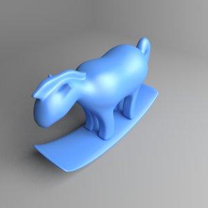 rocking horse 4 3D model