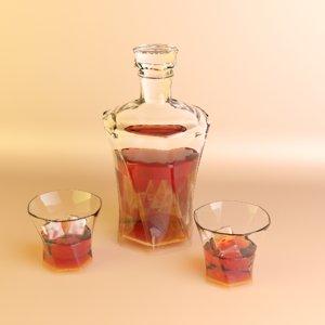 whiskey set 3D model