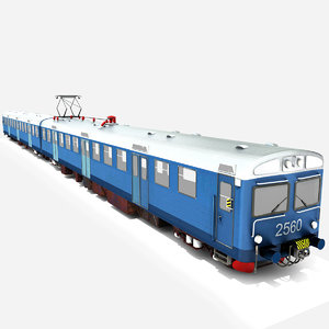 3D commuter train