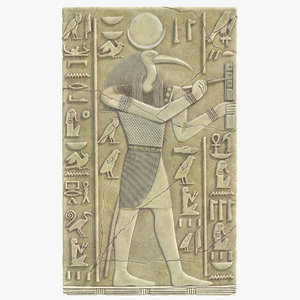 3D thoth ancient egyptian