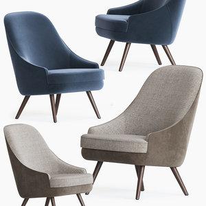 375 walter knoll armchair 3D