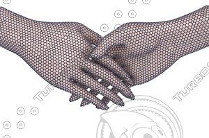 3D model graphene hand