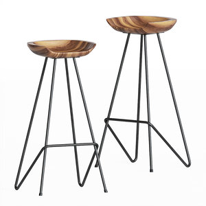 perch stool anthropologie 3D model