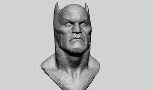 batman bust clay model
