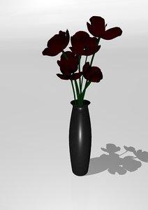 vase poppy model
