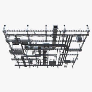 ventilation ceiling 3D model