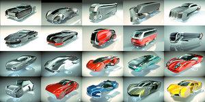 3D 20 1 cool hover car model