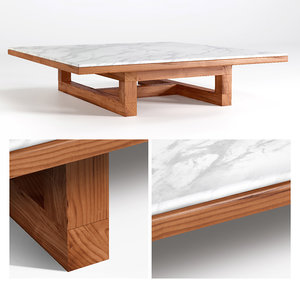 span coffee table 3D model