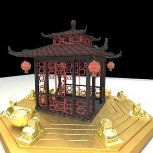 chinese pavilion 3D